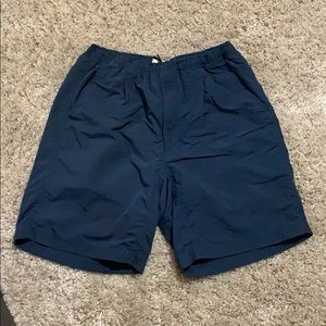 North Face Shorts Blue Camp Outdoors Activities
